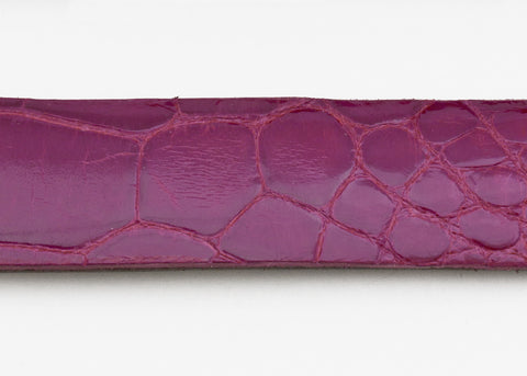 Magenta Glazed Custom Alligator Belt Strap