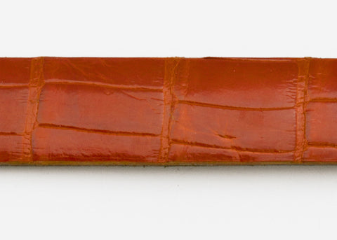 Mandarina Glazed Custom Alligator Belt Strap