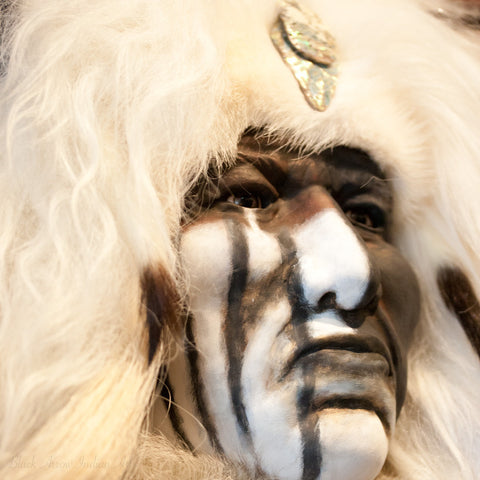 Great White Spirit II Native American Style Spirit Mask by Cindy Jo Popejoy