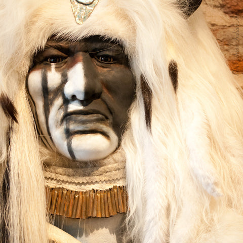 Great White Spirit II Spirit Mask by Cindy Jo Popejoy