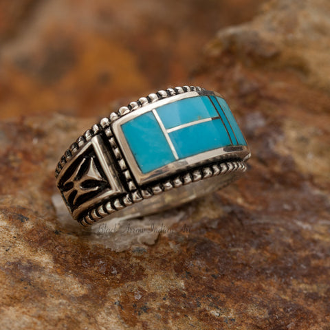 David Rosales Arizona Blue Sterling Silver Ring