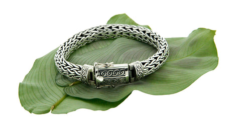 Keith Jack Sterling Silver Dragon Weave Bracelet w/ Eternity Clasp 2