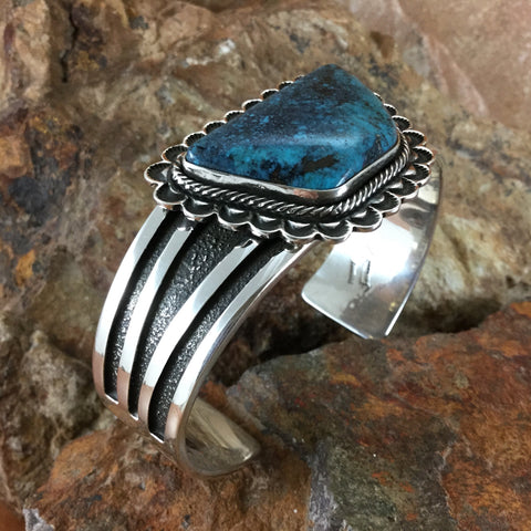 Tommy Jackson Morenci Turquoise Sterling Silver Cuff Bracelet