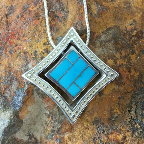 David Rosales Arizona Blue Sterling Silver Necklace
