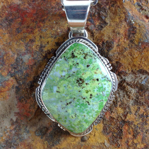 Gaspiete & Sterling Silver Pendant