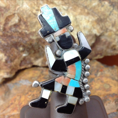 Zuni Rainbow Man Ring - Sterling Silver - Estate Jewelry