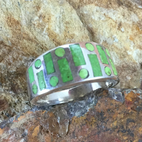 David Rosales Gaspiete Inlaid Sterling Silver Ring