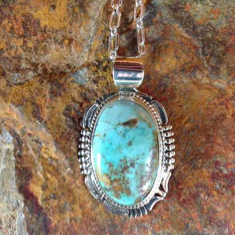 Pilot Mountain Turquoise Sterling Silver Pendant