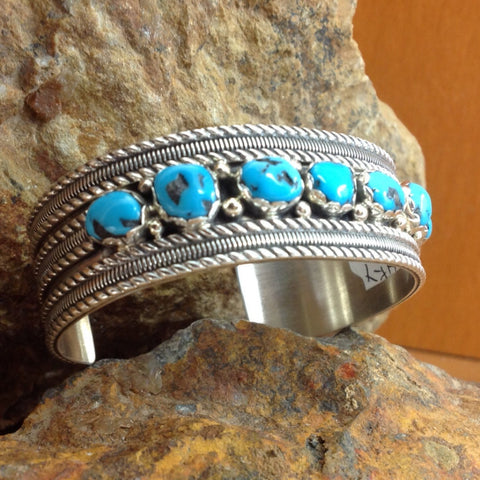 Sleeping Beauty Turquoise Sterling Silver Bracelet by Spence