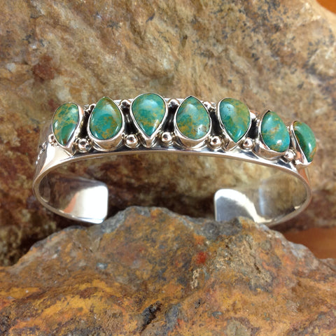 Crow Springs Turquoise Sterling Silver Bracelet