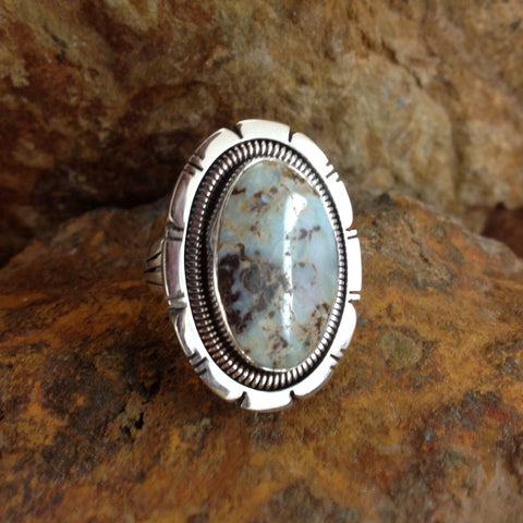 Dry Creek Turquoise Sterling Silver Ring Size 8