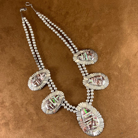 David Rosales White Buffalo Sterling Silver Pendant Cross w/ Cubic Zirconia
