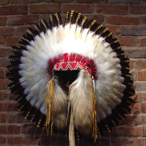 1875 Replica Headdress by Navajo Artists
