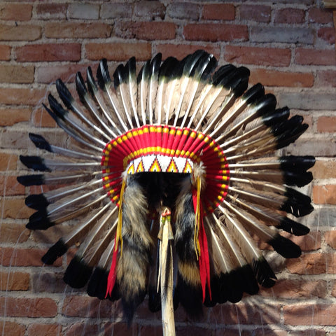 'Antique' Headdress by Navajo Artists