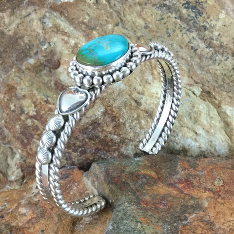 Sonoran Gold Turquoise Sterling Silver Bracelet by Artie Yellowhorse