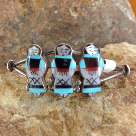 Zuni Teresa Waseta Maiden Inlay Bracelet - Estate Jewelry