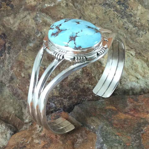 Golden Hill Turquoise Sterling Silver Bracelet by Thomas Francisco