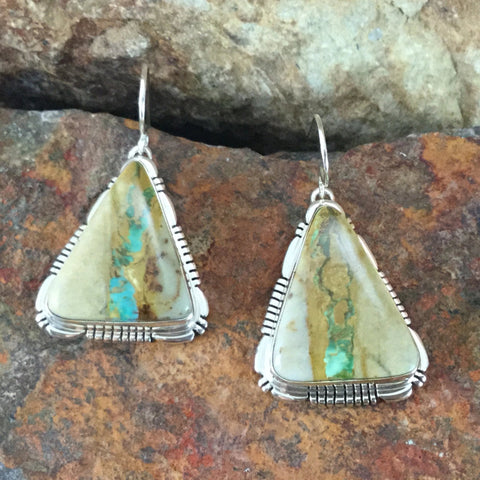 Boulder Turquoise Sterling Silver Earrings by Lee