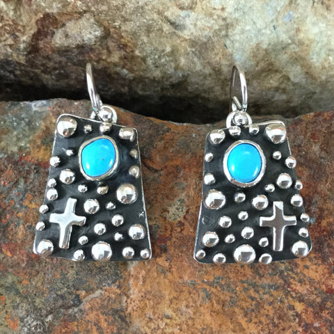 Million Drops Sleeping Beauty Turquoise Sterling Silver Earrings