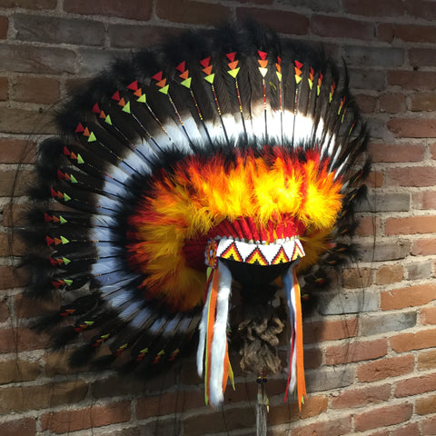 Pendelton Headdress by Navajo Artists