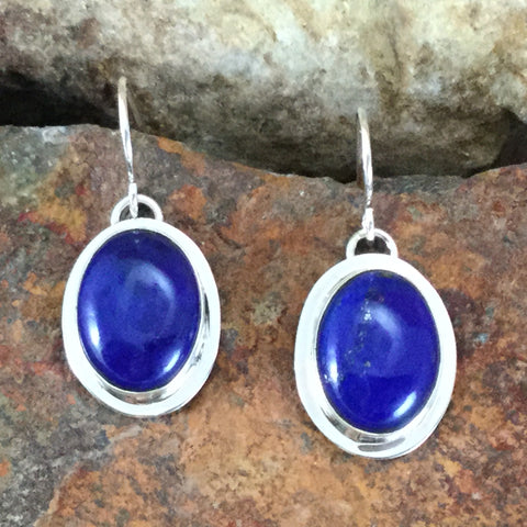 Tommy Jackson Blue Lapis Sterling Silver Earrings