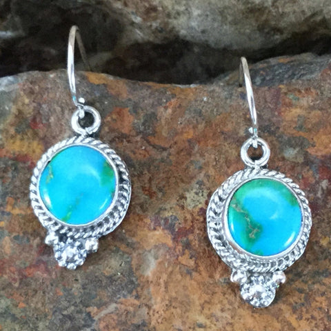 Sonoran Gold Turquoise Sterling Silver Earrings