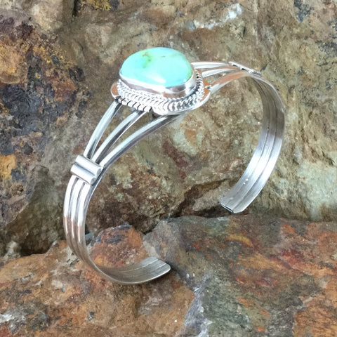 Sonoran Gold Turquoise Sterling Silver Bracelet