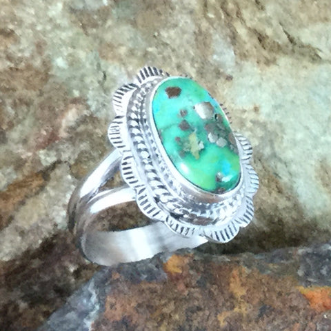 Sonoran Gold Turquoise Sterling Silver Ring Size 6