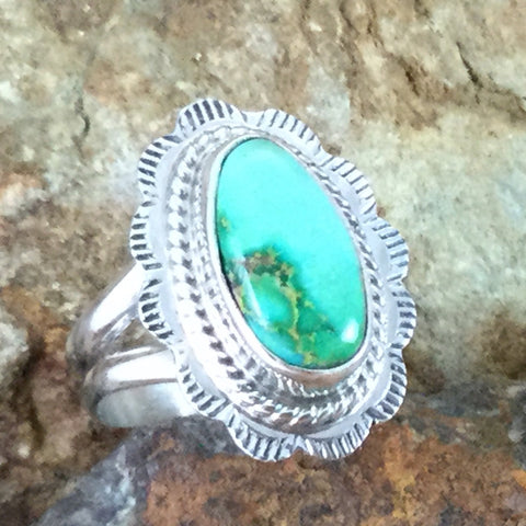 Sonoran Gold Turquoise Sterling Silver Ring Size 5