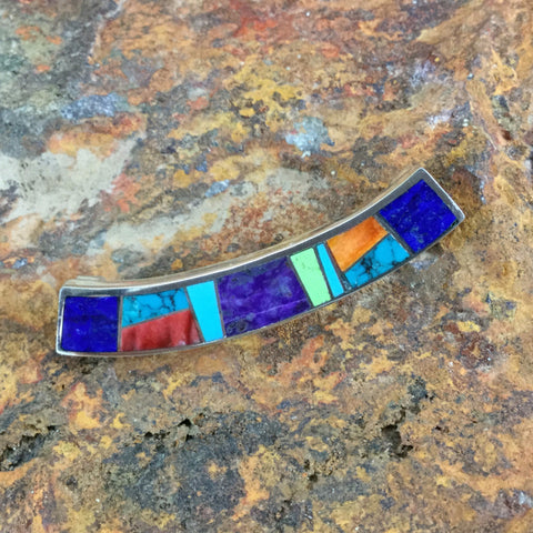 David Rosales Indian Summer Inlaid Sterling Silver Pendant Slide