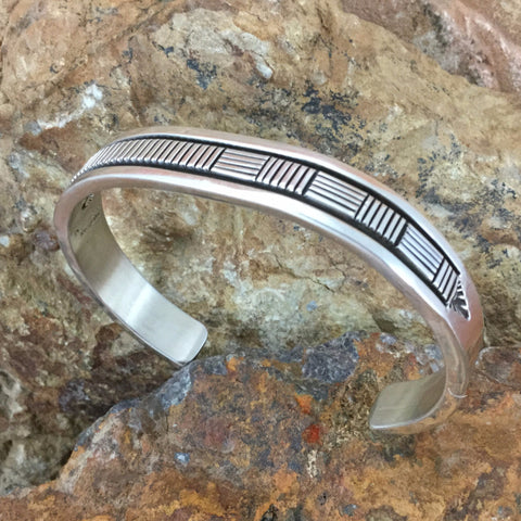 Sterling Silver Cuff Bracelet by Bruce Morgan