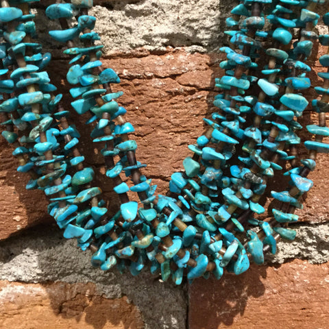 "32"" Ten-Strand Sleeping Beauty Turquoise, Spiny and Heishi Necklace"