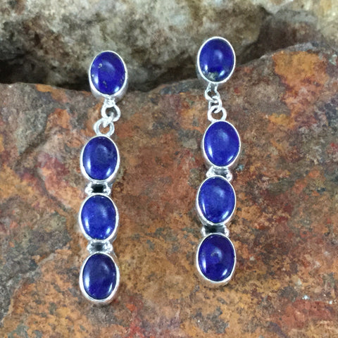 Blue Lapis Sterling Silver Earrings