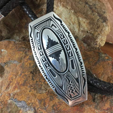 Sterling Silver Bolo Tie by Nelson Begay