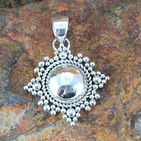 Sterling Silver Pendant by Artie Yellowhorse