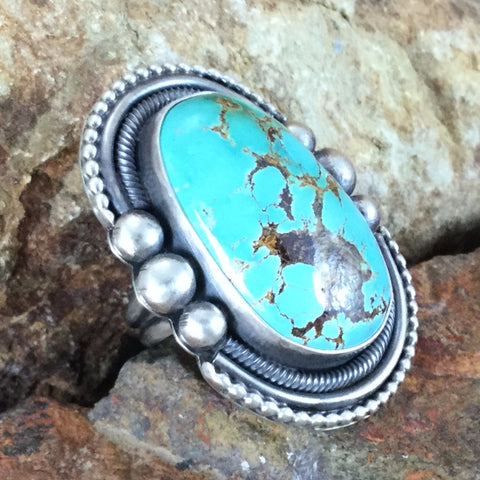 Royston Turquoise Sterling Silver Ring Size 6