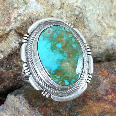 Royston Turquoise Sterling Silver Ring Size 6.5