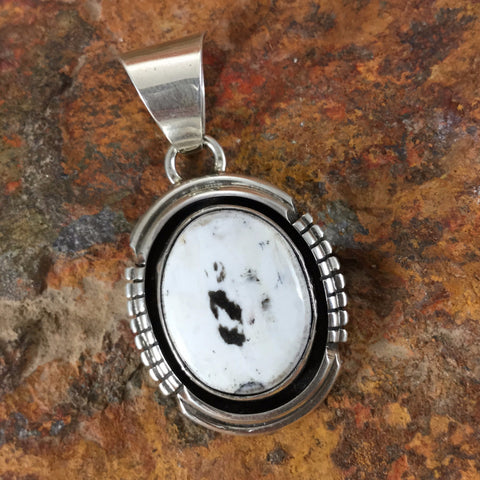 White Buffalo Sterling Silver Pendant by Gary Spencer