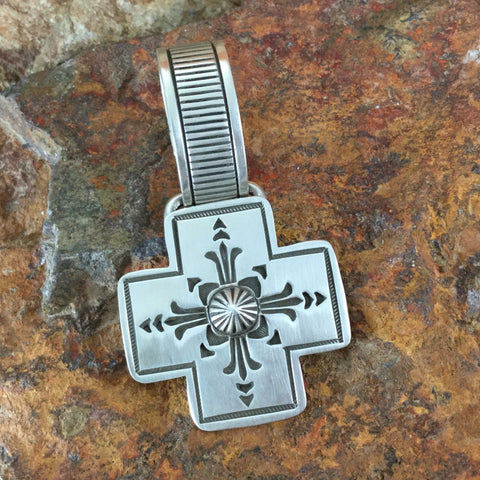Traditional Sterling Silver Cross Pendant by K Nataani