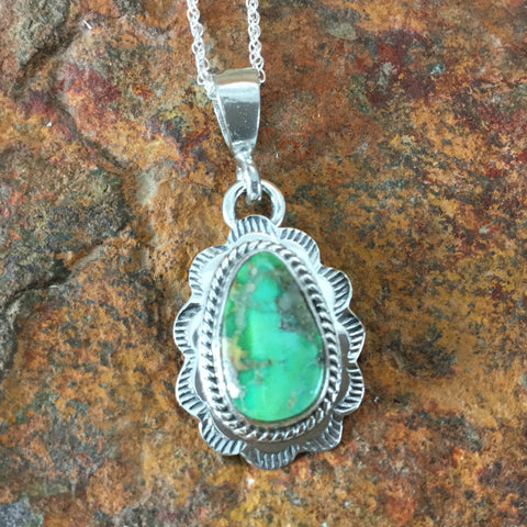 Sonoran Gold Turquoise Sterling Silver Pendant