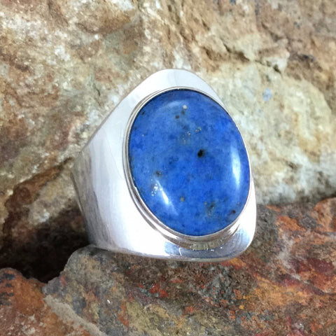 Lapis & Sterling Silver Ring -- Adjustable
