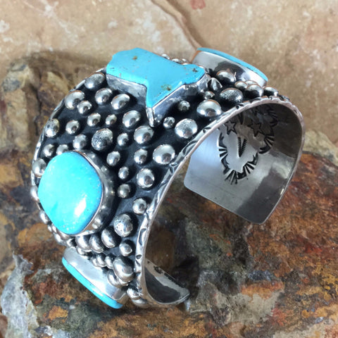 Dry Creek Turquoise Sterling Silver Cuff Bracelet by Billy The Kid