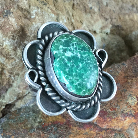 Vintage Turquoise Silver Ring - Estate Jewelry