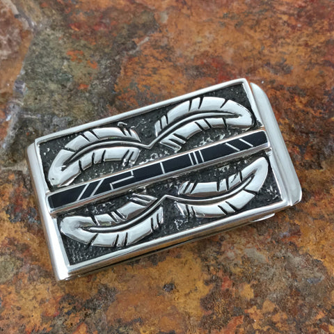 David Rosales True Black Inlaid Sterling Silver Money Clip