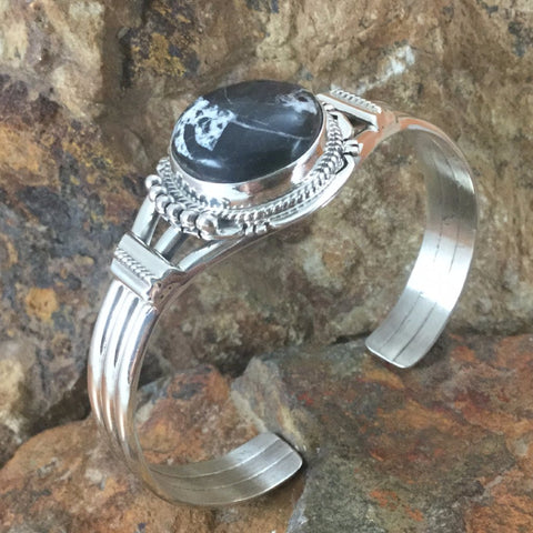 White Buffalo Sterling Silver Bracelet by J Nelson
