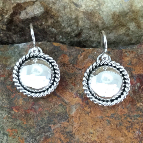 Traditional Sterling Silver Earrings by Artie Yellowhorse