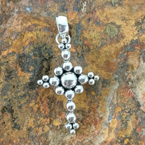 Sterling Silver Pendant by Artie Yellowhorse Cross
