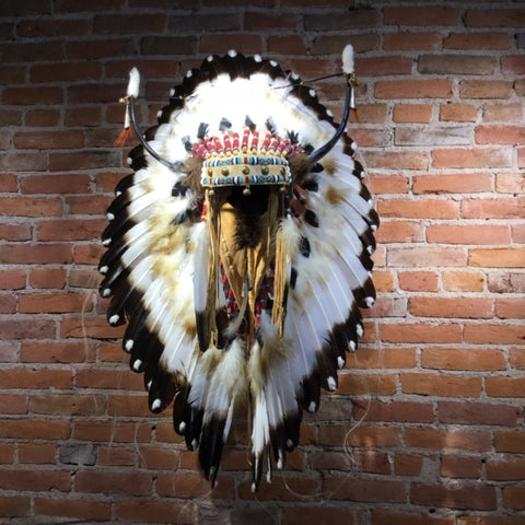 "42"" Split Horn Victory Headdress by Russ Kruse"