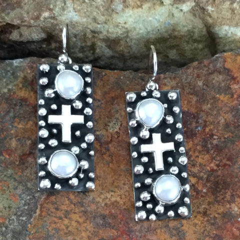 Million Drops Fresh Water Pearl Sterling Silver Earrings by Akee Douglas