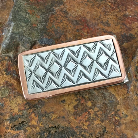 Sterling Silver & Copper Money Clip - By Sylvana Apache